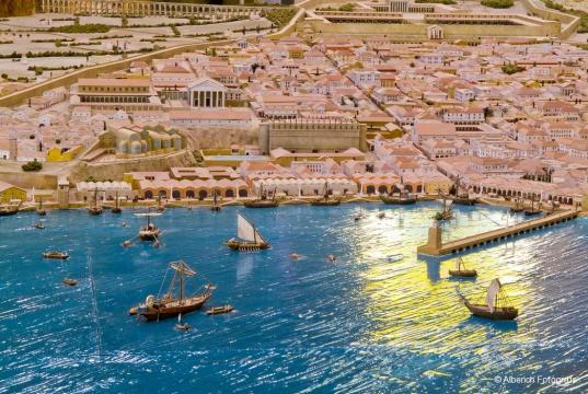 Maqueta de Tarraco en la antiguedad