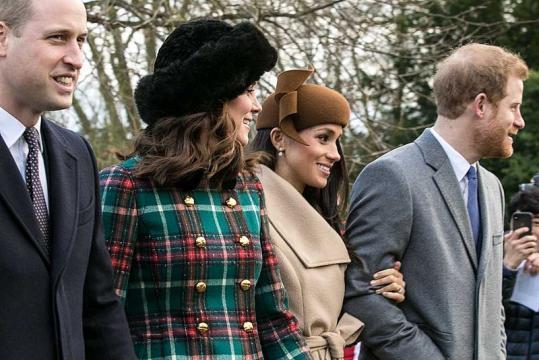 The Royal Family on Christmas Day 2017 (Image courtesy – Mark Jones, Wikimedia Commons)