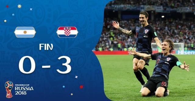 Mondial 2018 : l'Argentine humiliée par une Croatie qualifiée ! - topmercato.com