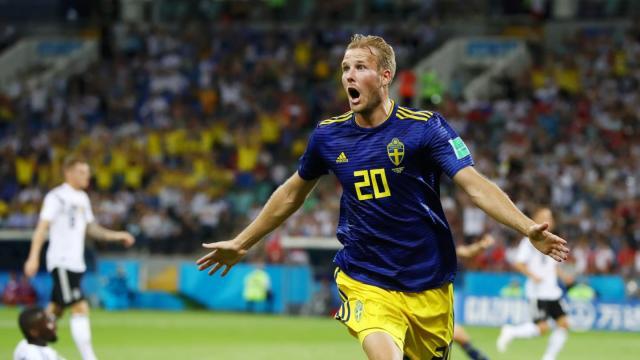 Ola Toivonen marcó uno de los goles más bellos en lo que va del Mundial. FIFA.com.