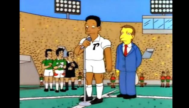 Pele presente en la final segun los Simpsons