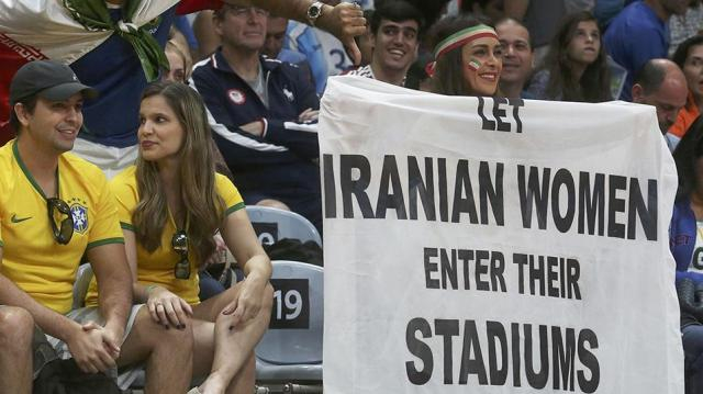 Iranian women banned to watch sport event in public