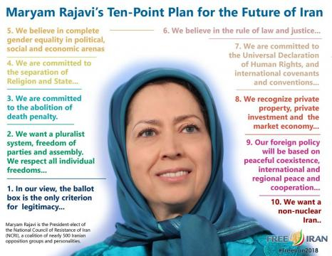 Maryam Rajavi 10 points platform
