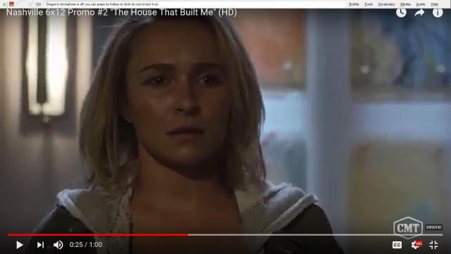 Juliette (Hayden Panettiere) drops her bag in disbelief when she makes it home on 'Nashville.' [Image source: Tv promos/YouTube