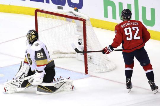 Kuznetsov si pudo jugar el partido 3, tras salir lesionado en el 2. NHL.com.