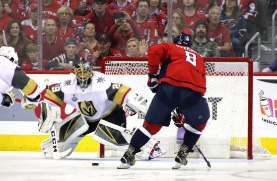 Ovechkin tuvo el 1-0 al comienzo del partido, pero Fleury hizo una gran parada. NHL.com.