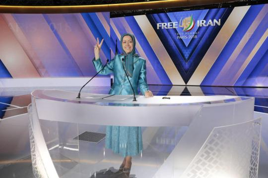 Iranian gathering in Paris by Iranian resistance