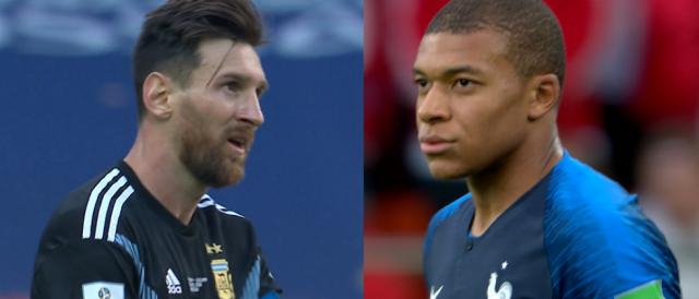 Sfida generazionale fra Lionel Messi (Argentina) e Kylian Mbappé (Francia)