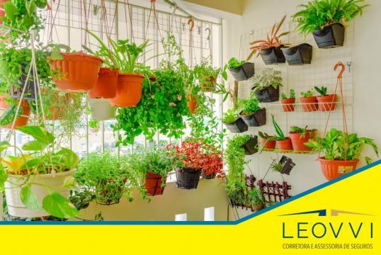 Opção de horta vertical em apartamento