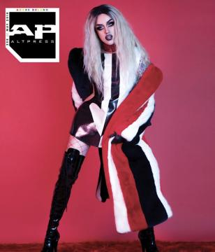 Adore Delano is on the cover of AltPress Magazine in June of 2018. / Image via Jeff Dorta, Publicity PR, used with permission.
