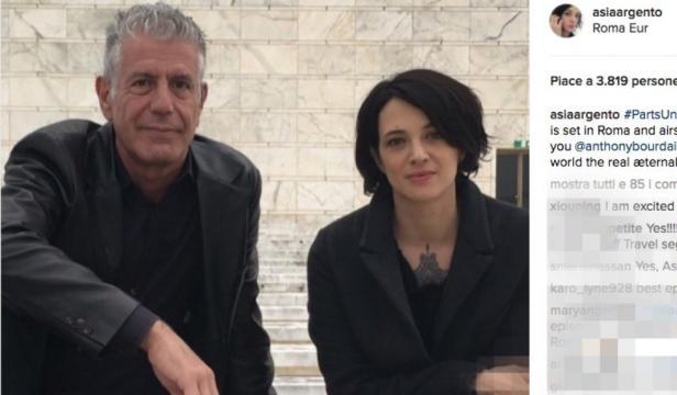 Asia Argento con lo chef Anthony Bourdain : 19 anni di differenza - zazoom.it