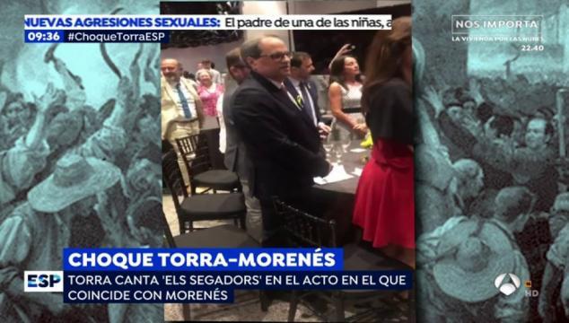 Choque entre Torra y Morenés-Antena 3