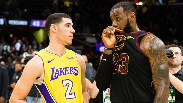 LeBron jugará a lado de Lonzo Ball en los Lakers. NBA.com