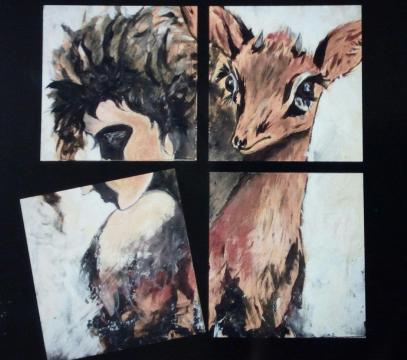 Profili di umanità, ricerca del duplice, con dipinti a profonda giacenza simbolica, strumenti indagatori del dualismo di immagine