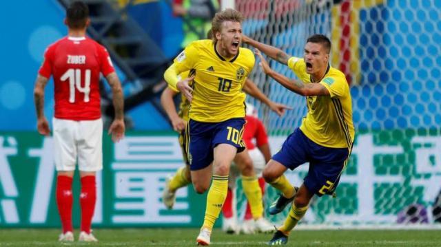 Emil Forsberg fue el mejor jugador de Suecia en el partido. FIFA.com