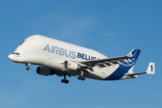 Airbus Beluga arriving at Toulouse–Blagnac Airport (Image courtesy - Brian Bukowski, Wikimedia Commons)