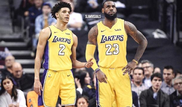 LeBron James and Lonzo Ball. - [slamvisuals / Instagram]