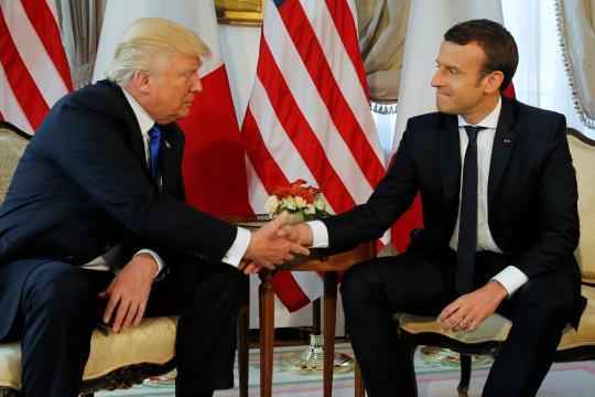 Première rencontre Trump-Macron - latribune.fr