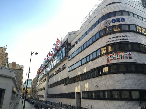 The European Space Agency ESA's Headquarters in Paris (Image courtesy – ESA M Trovatello, Wikimedia Commons)