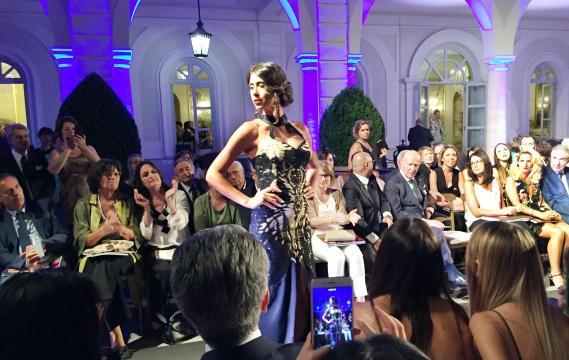 """Altro momento della serata romana durante la rassegna di moda """"Arte Sartoriale 2018"""" a Villa Miani"""