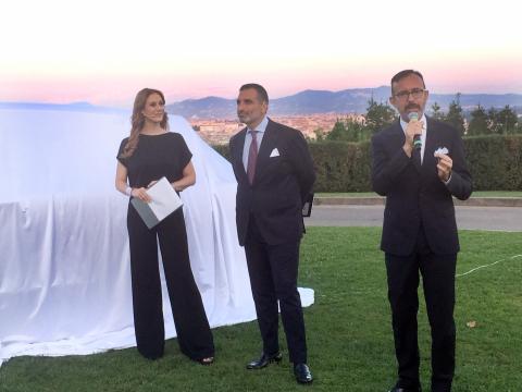 Valeria Oppenheimer, Andrea Gucciardi, direttore generale Rolls-Royce Motor Cars Italia e Sergio Solero, presidente BMW Italia