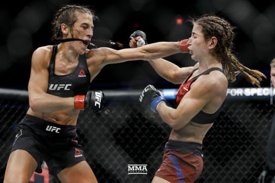 Joanna regresó a la senda de la victoria al vencer a Torres. UFC.com.