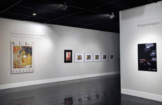 Inauguración de una exposición dedicada a Buñuel, por ProyectAragón 2015 y de la exposición Carteles. Fuente - atmosferacine.com