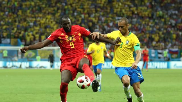Lukaku fue una bestia vs Brasil. FIFA.com