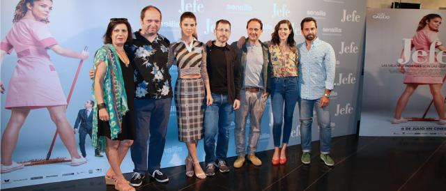 Elenco de actores de Jefe, comedia dirigida por Sergio Barrejón 2