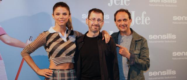 Juana Acosta, Sergio Barrejón y Luis Callejo de la película Jefe
