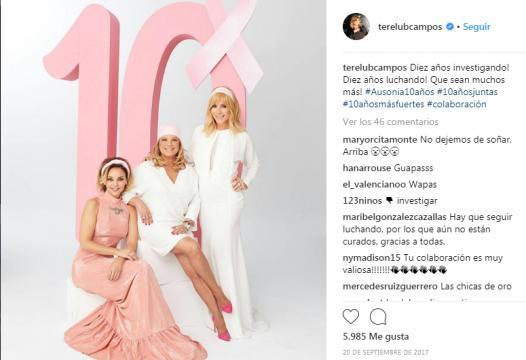 Terelu Campos celebraba en Instagram los 10 años de investigación de Ausonia