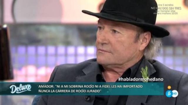 Amador Mohedano acude al Deluxe a contar que no se habla ni con Rocío Carrasco ni con Fidel Albiac