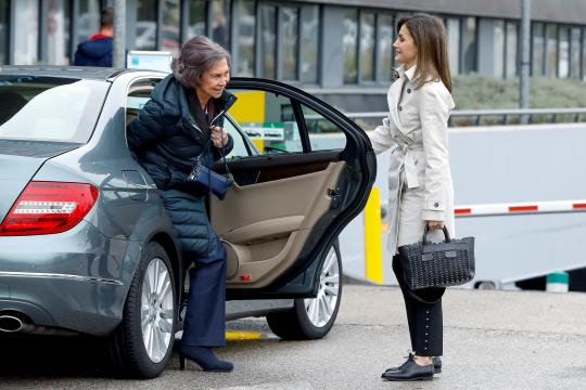Letizia 'pide perdón' en público a Sofía abriéndole la puerta del ... - elespanol.com