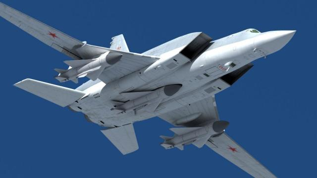 The Tu-22 gives Russian Air Force global strike capability. [Image source: USmilitarypower- YouTube]