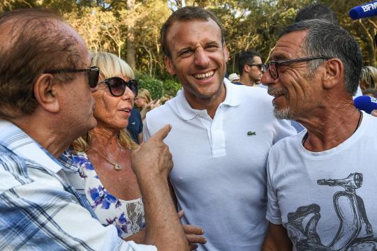 Emmanuel Macron en vacances discrètes à Brégançon