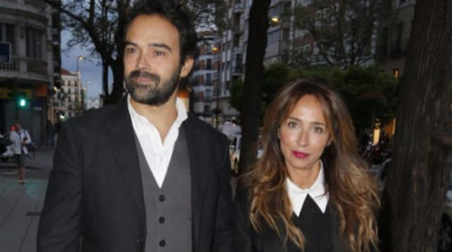 María Patiño acude a un estreno con su marido Ricardo Rodríguez