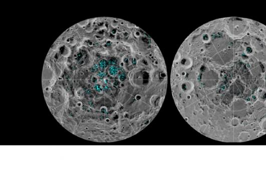 NASA Finds Water Ice On The Moon's Surface. [Image courtesy – GeoBeats News, YouTube video]