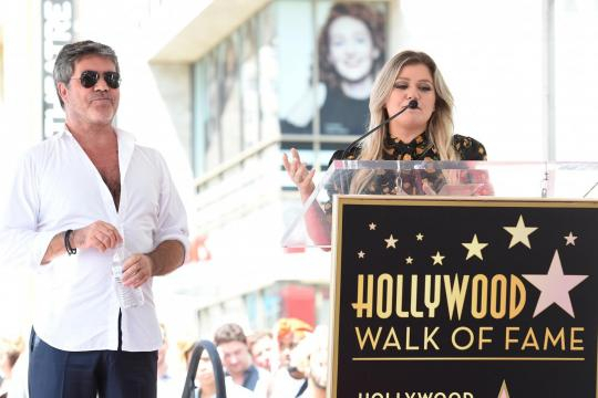 Simon Cowell receives star on Hollywood Walk of Fame at glitzy ... - (Image via standard.co.uk/Twitter)