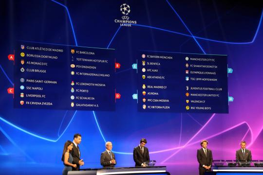 Ligue des champions : Revivez le tirage au sort de la Ligue des champions 2018-2019
