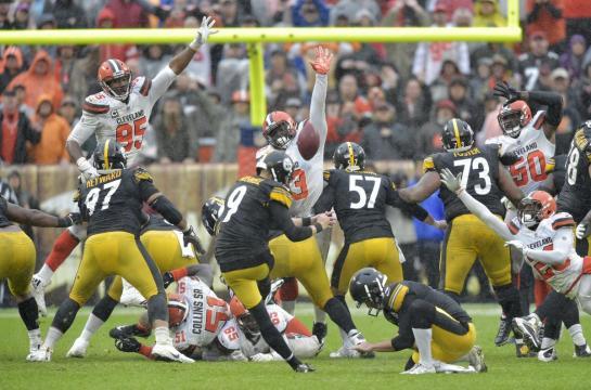 Los Acereros no aprovecharon las más de 130 yardas del corredor James Conner para vencer a los Browns. NFL.com.