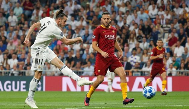 Bale tuvo un buen partido y un gol clave vs la Roma.