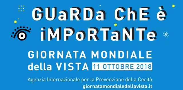 La giornata mondiale della vista è promossa in Italia dalla IAPB Italia onlus il secondo giovedì di ottobre