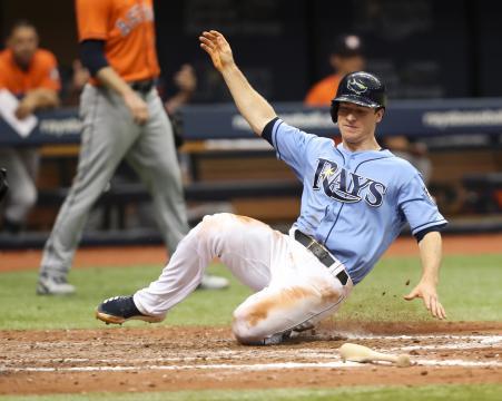 Wendle ha sido un super utility para los Rays en 2018. MLB.com.