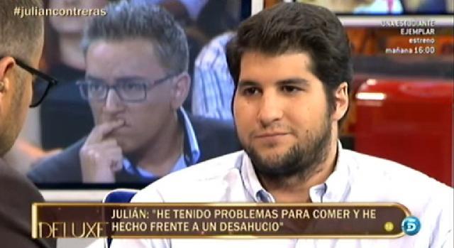 Julian Contreras ya reconoció en el Deluxe haber sido desahuciado y haber pasado problemas económicos