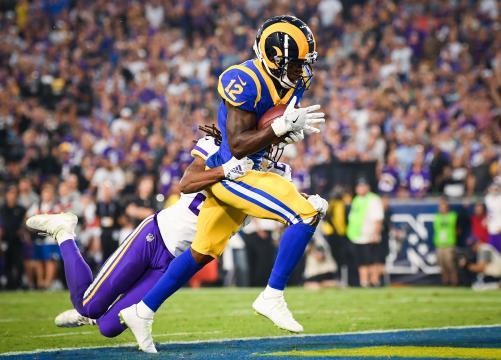 Brandin Cooks le ha permitido a Goff ensanchar el campo esta temporada. NFL.com.