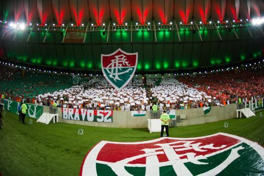 Torcida do Fluminense preparava uma grande festa para a noite desta quinta-feira