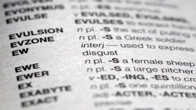 Yowza! 300 words have now been added to the Scrabble dictionary, including ew. [Image @ABC/Twitter]