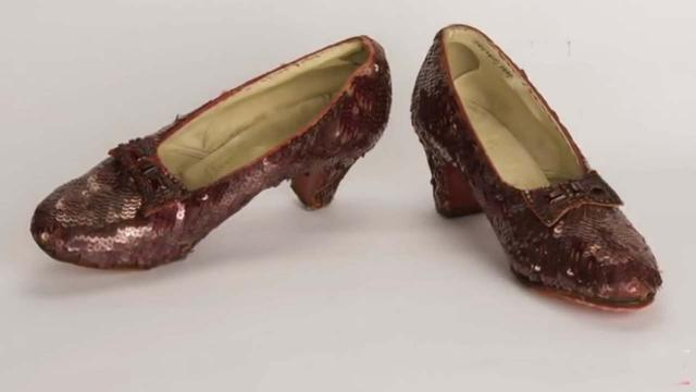 The ruby slippers worn by Judy Garland in
