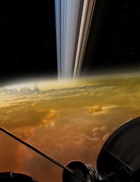 Cassini, reproducción artística