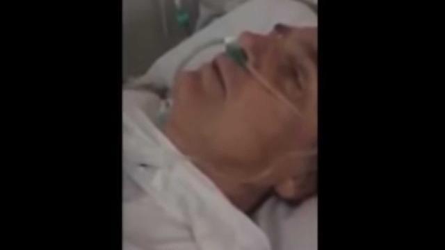 Momento em que Bolsonaro grava vídeo em hospital - noticiasaominuto.com
